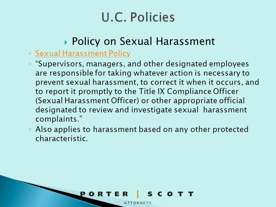 Policy on Sexual Harassment