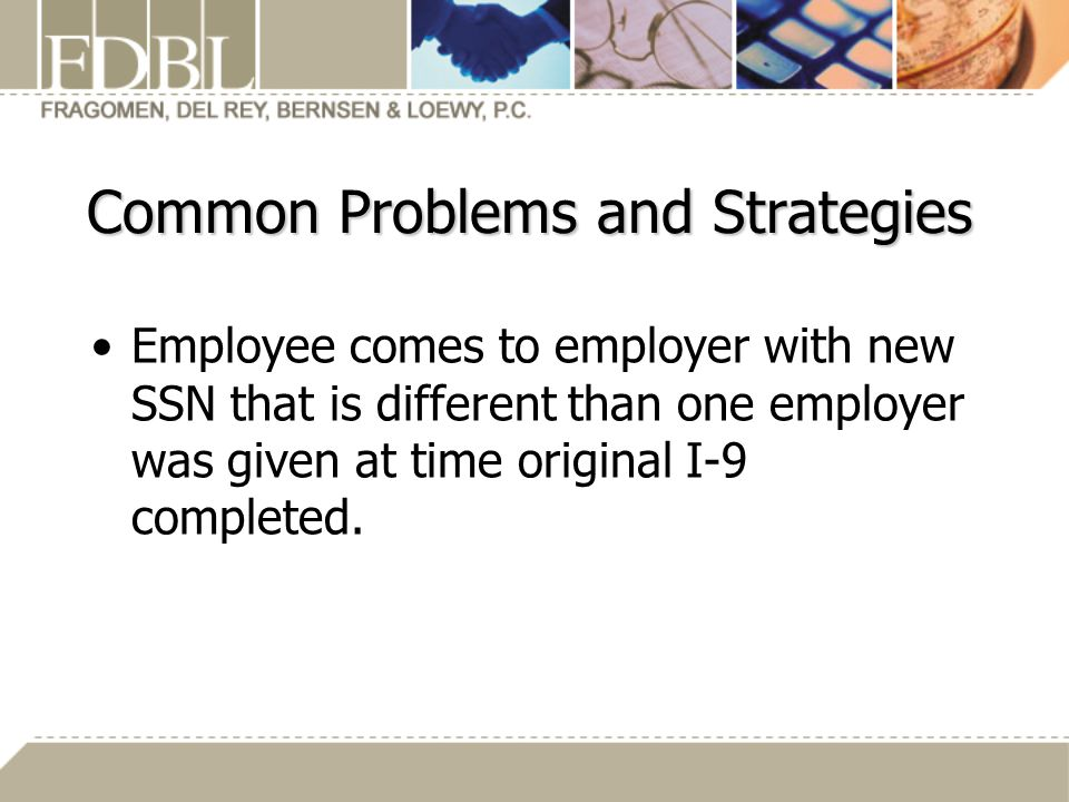 Common Problems and Strategies