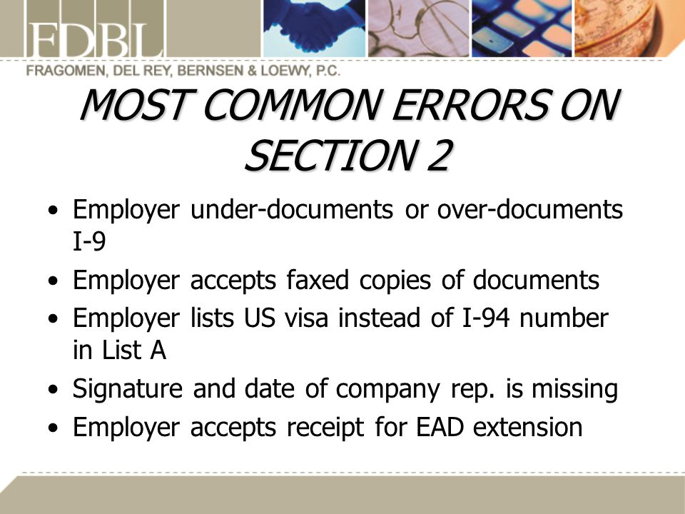 MOST COMMON ERRORS ON SECTION 2