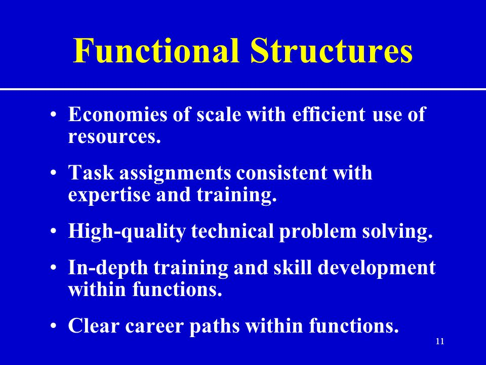 Functional Structures