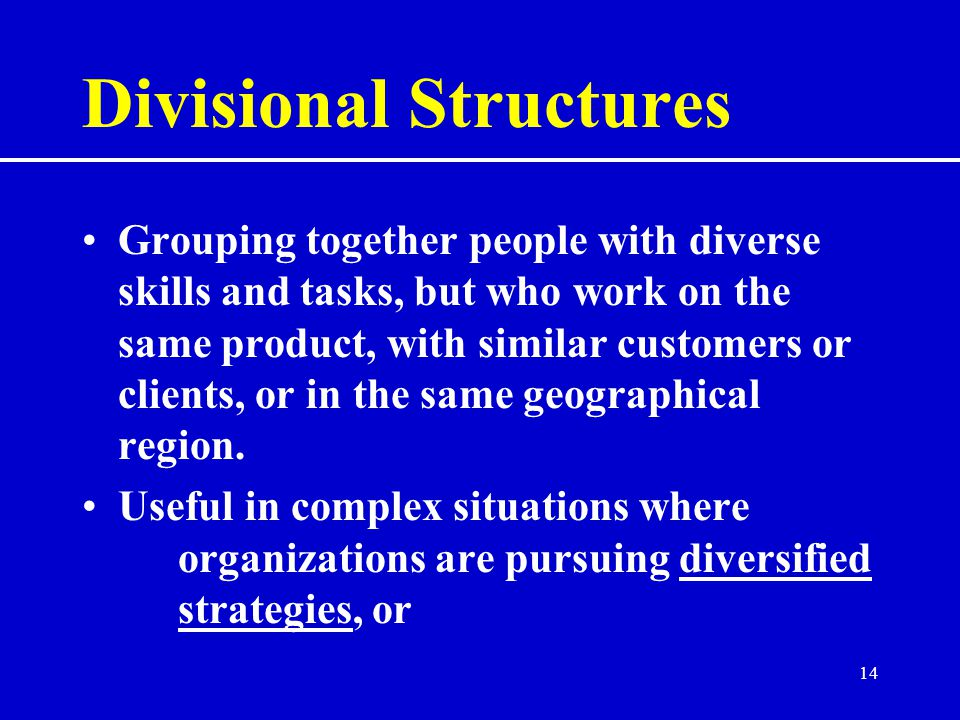 Divisional Structures