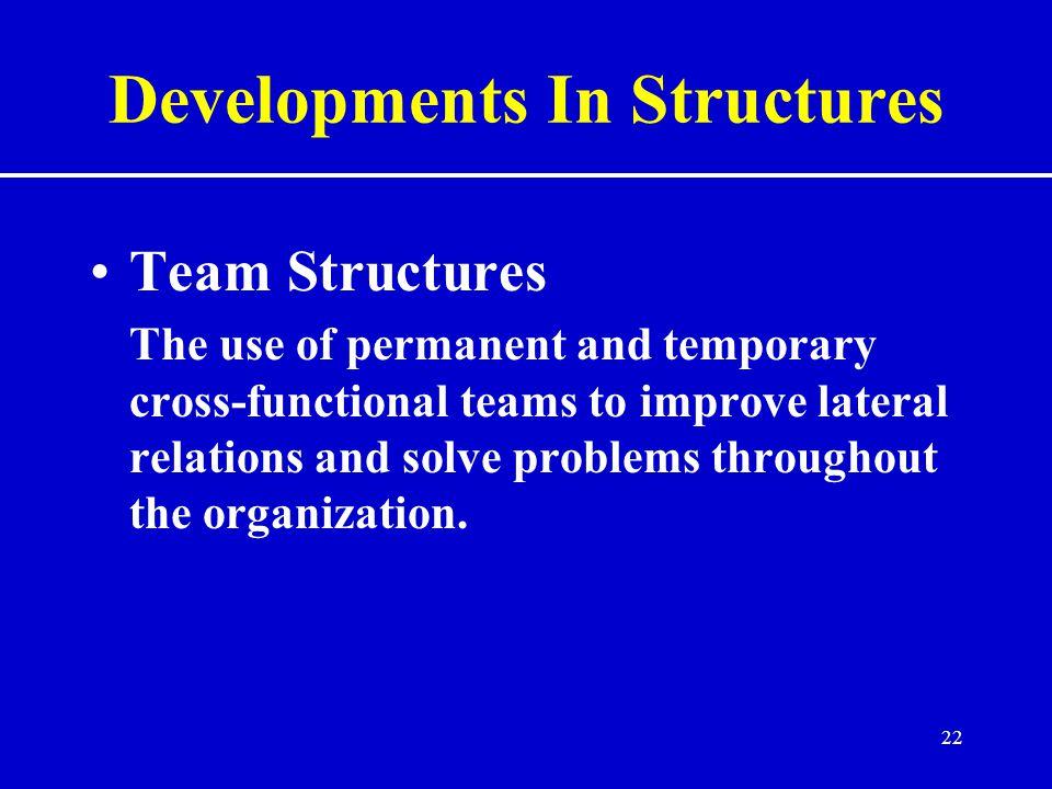 Developments In Structures