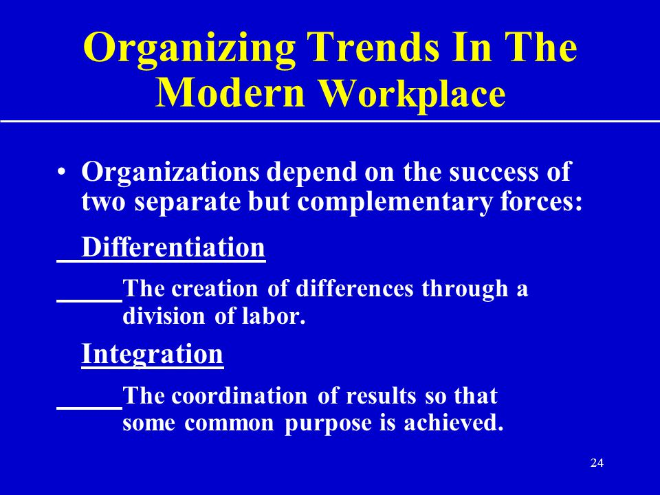 Organizing Trends In The Modern Workplace