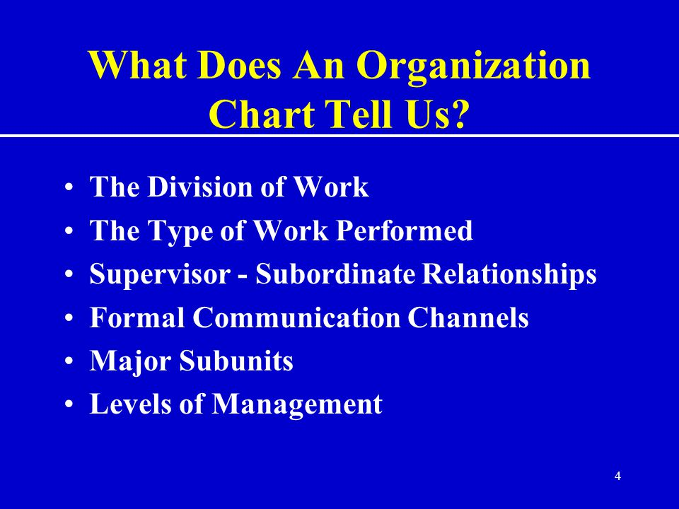 What Does An Organization Chart Tell Us