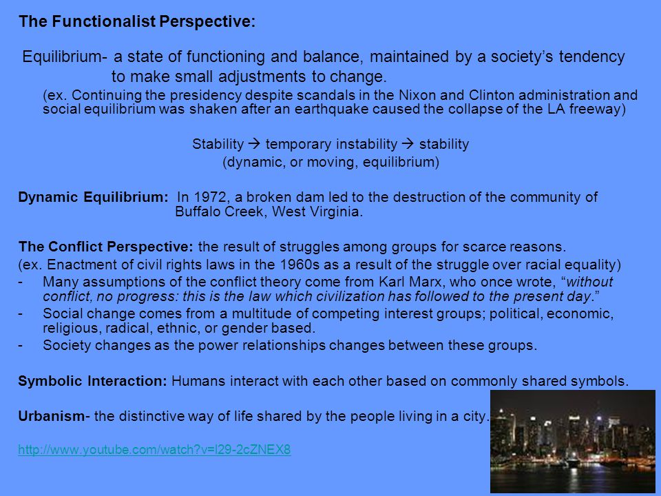 The Functionalist Perspective: