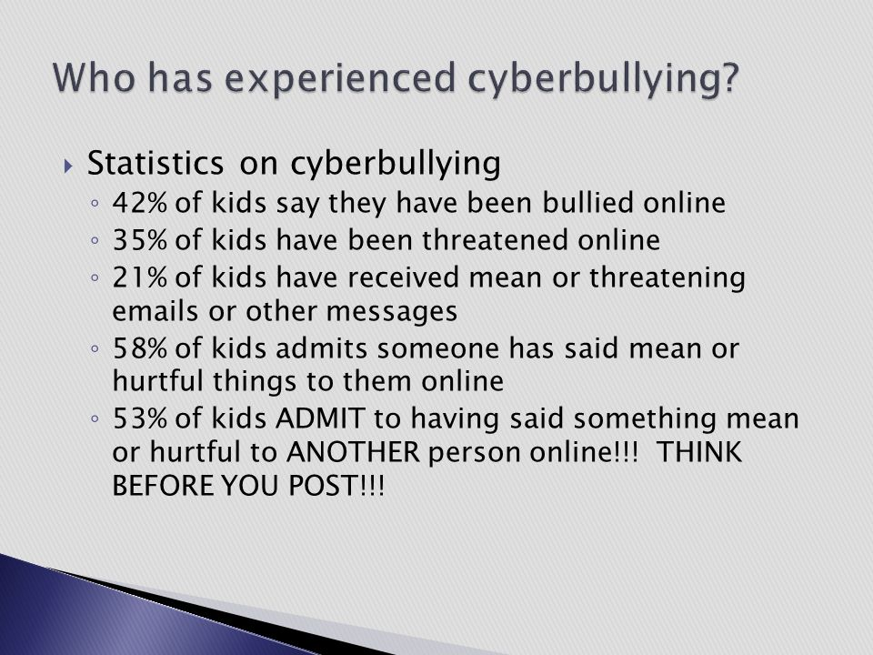 Who has experienced cyberbullying