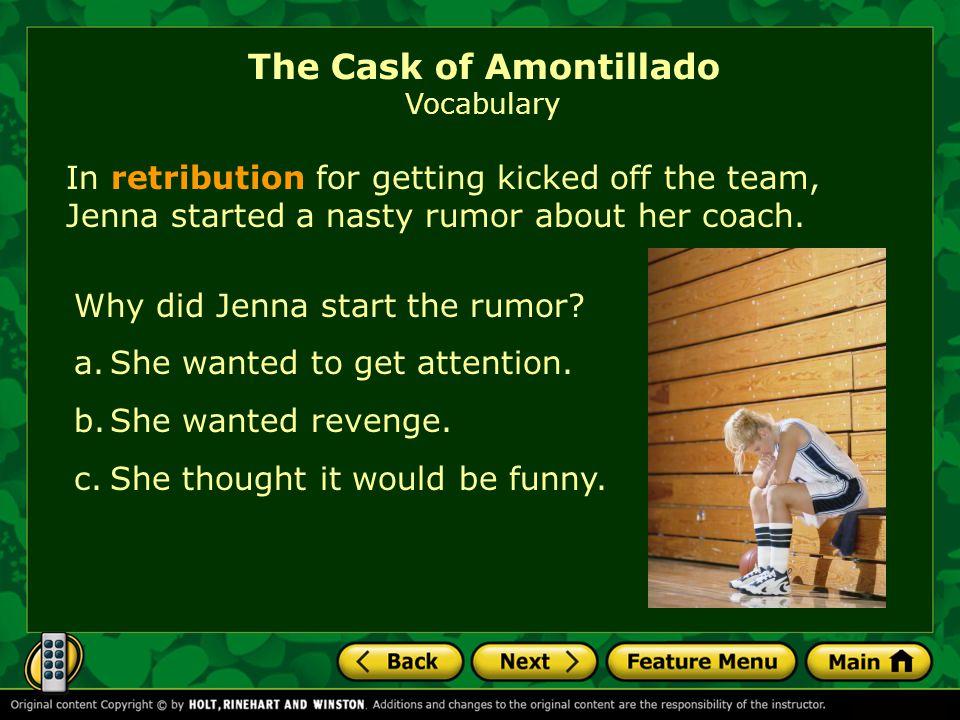 The Cask of Amontillado Vocabulary