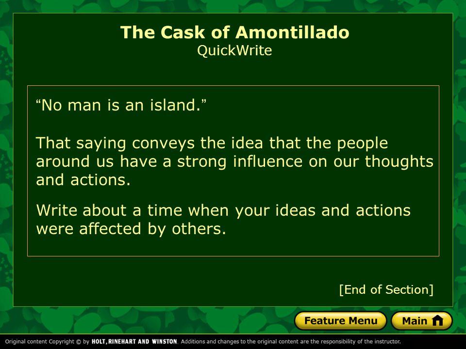 The Cask of Amontillado QuickWrite