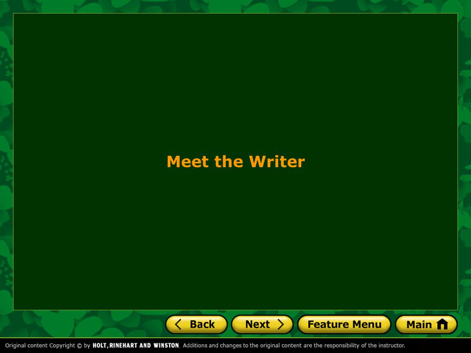 Meet the Writer