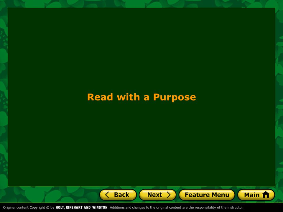 Read with a Purpose