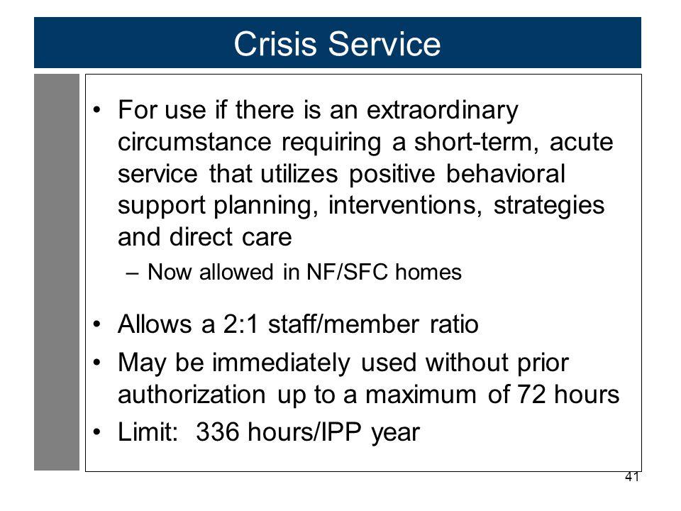 Crisis Service