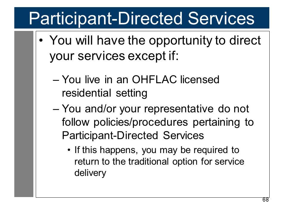 Participant-Directed Services