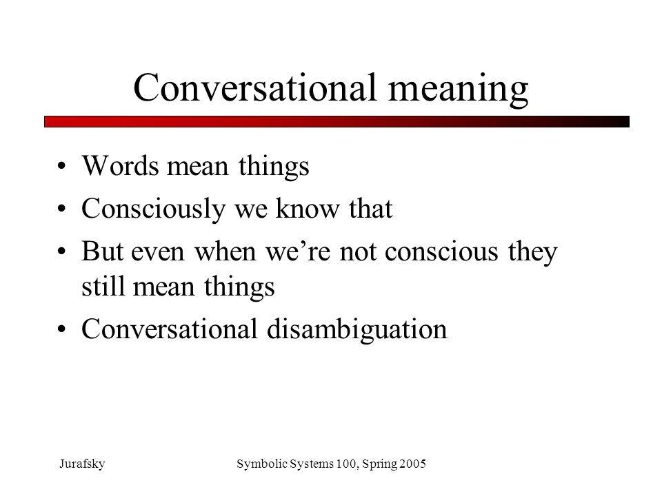 Conversational meaning