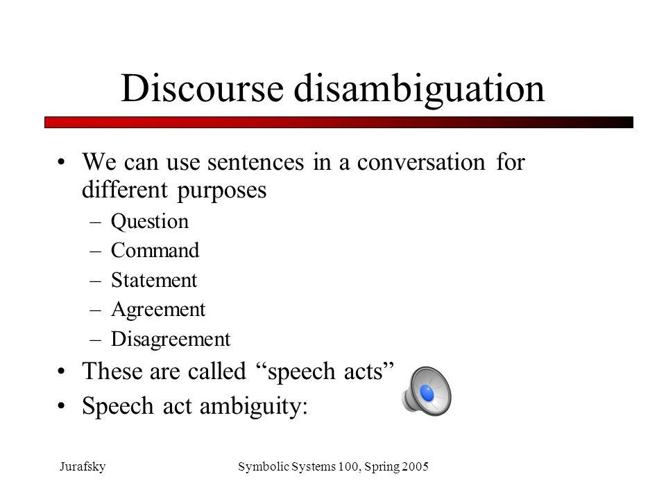 Discourse disambiguation