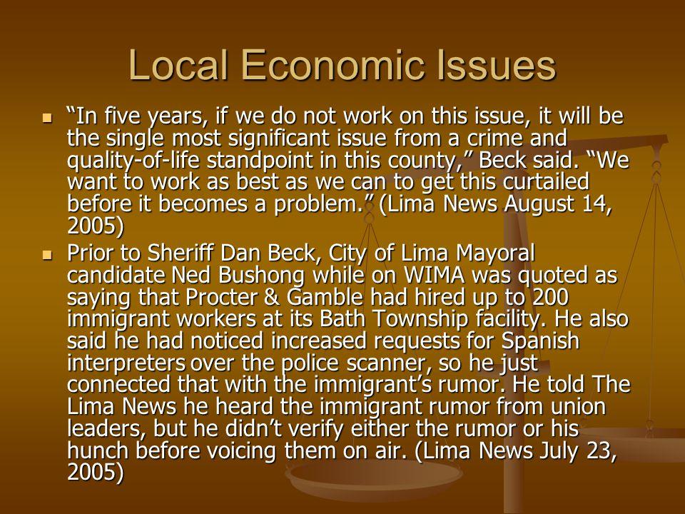 Local Economic Issues
