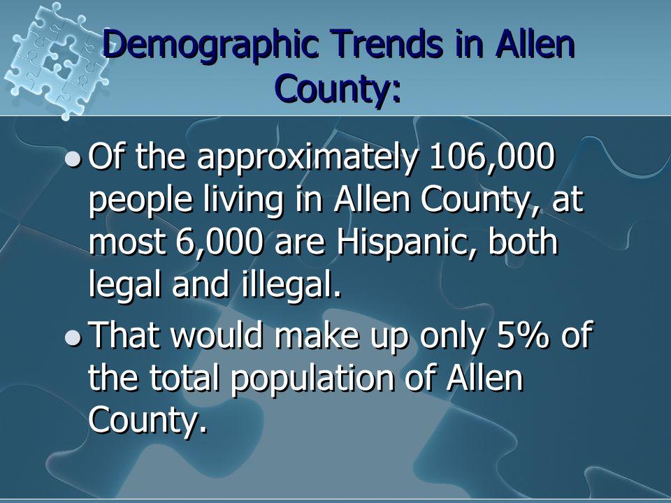 Demographic Trends in Allen County: