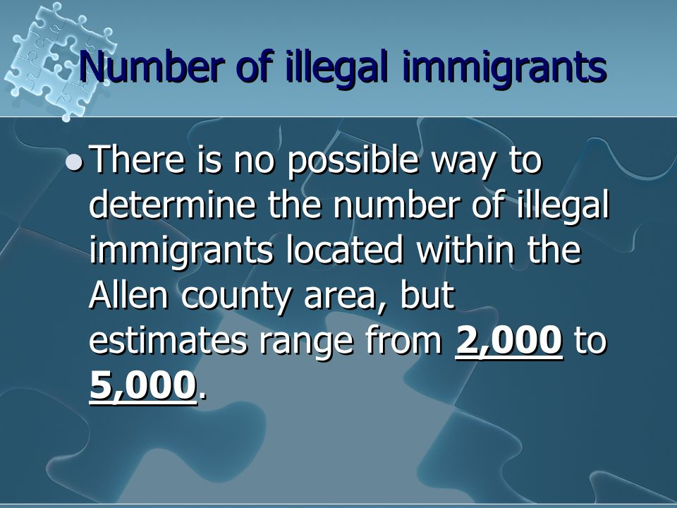 Number of illegal immigrants