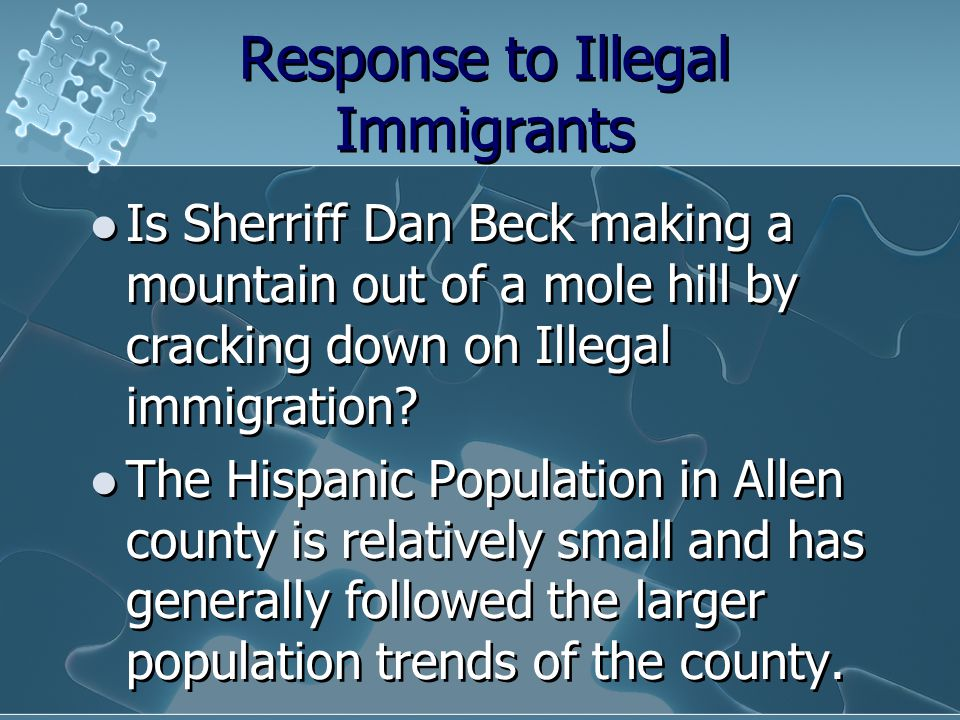 Response to Illegal Immigrants