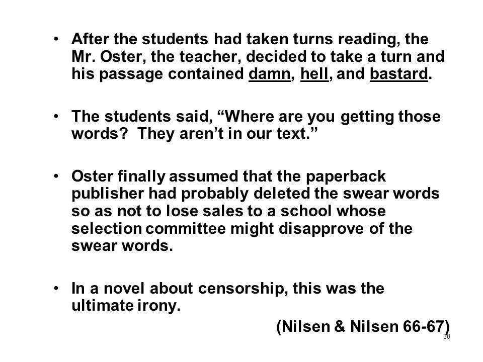 After the students had taken turns reading, the Mr