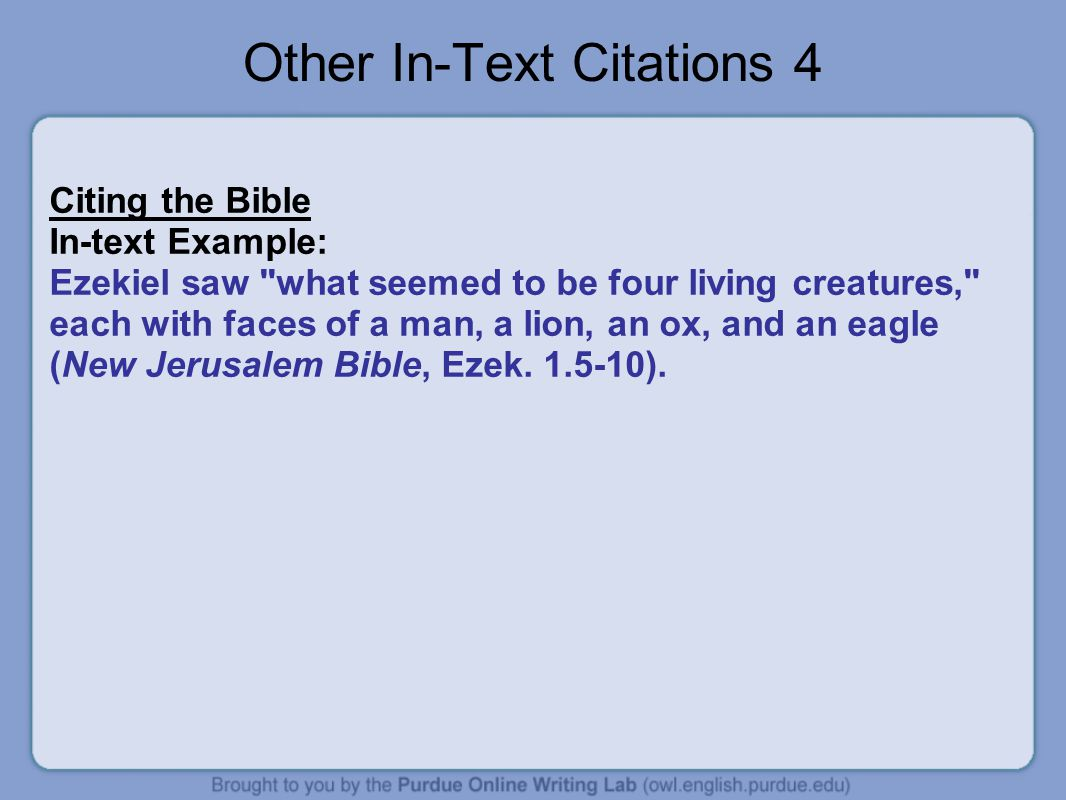 Other In-Text Citations 4