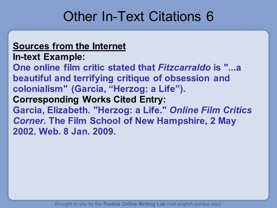 Other In-Text Citations 6