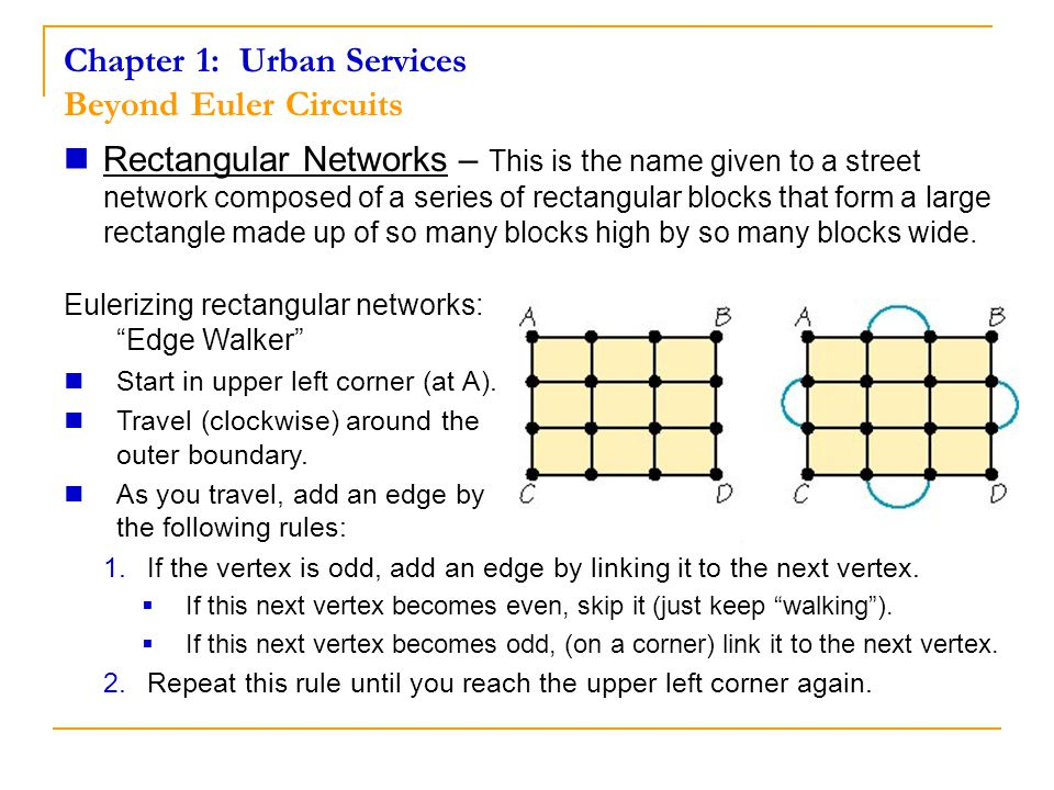 Chapter 1: Urban Services Beyond Euler Circuits