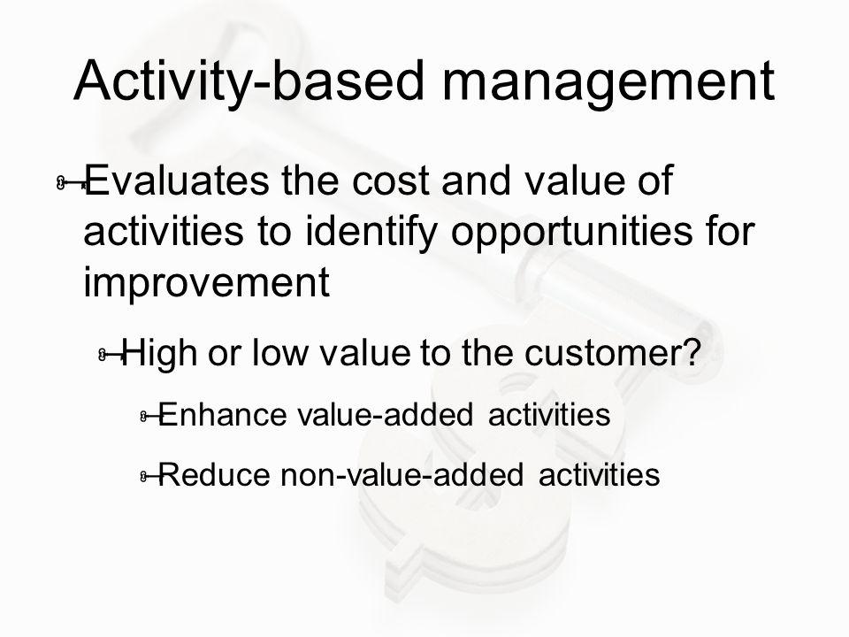 Activity-based management