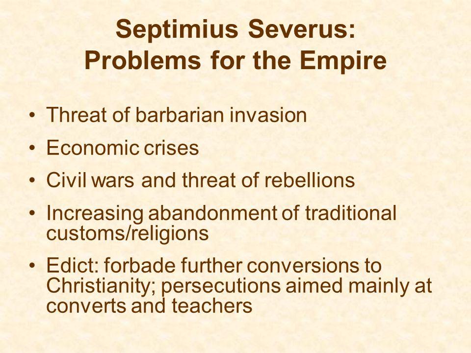 Septimius Severus: Problems for the Empire