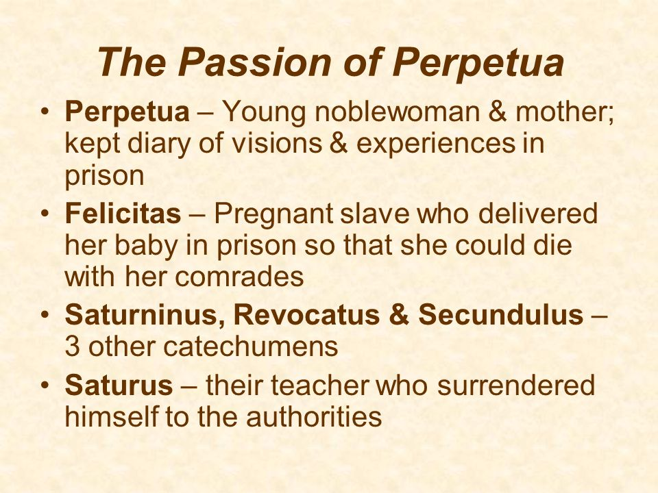 The Passion of Perpetua