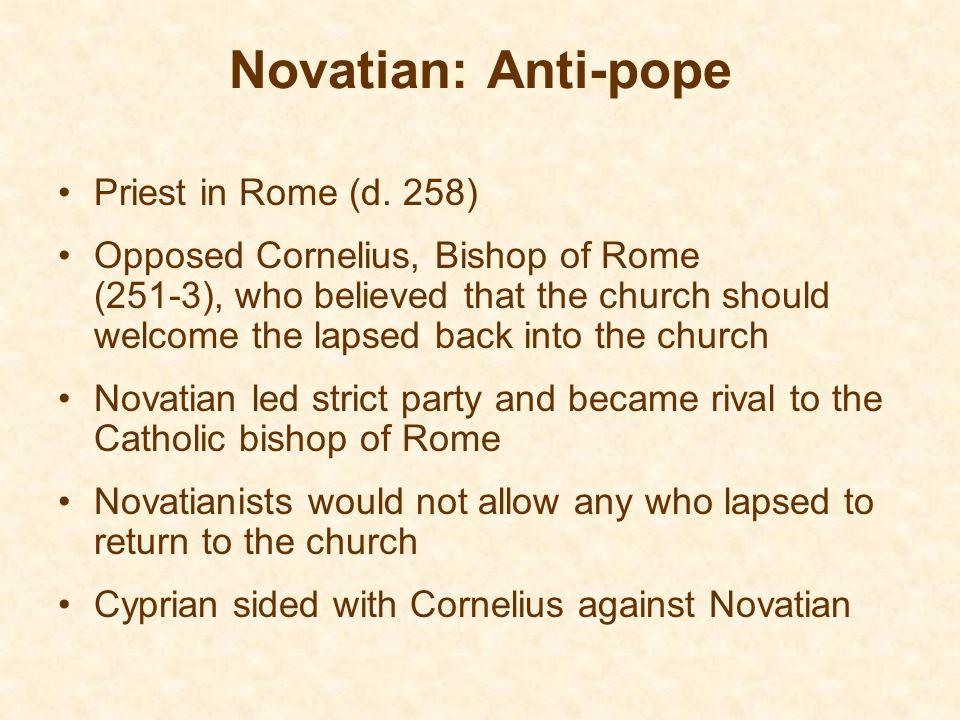 Novatian: Anti-pope Priest in Rome (d. 258)