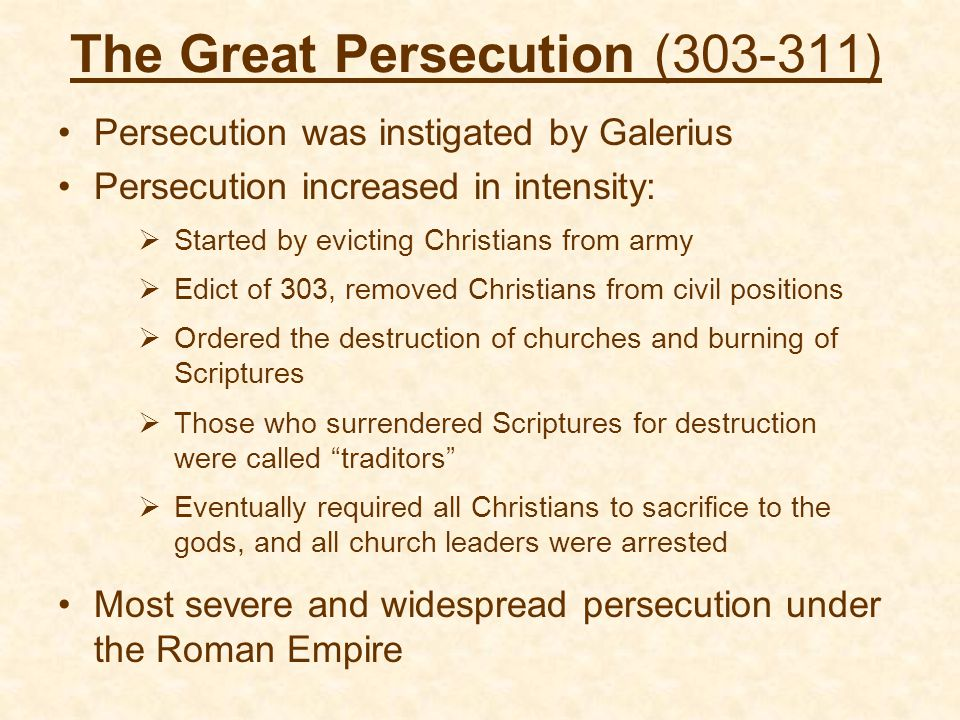 The Great Persecution (303-311)