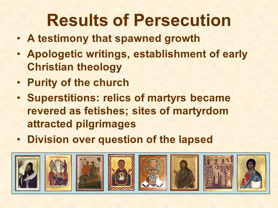 Results of Persecution