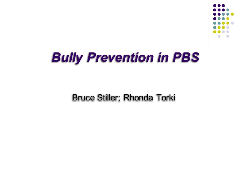 Bully Prevention in PBS