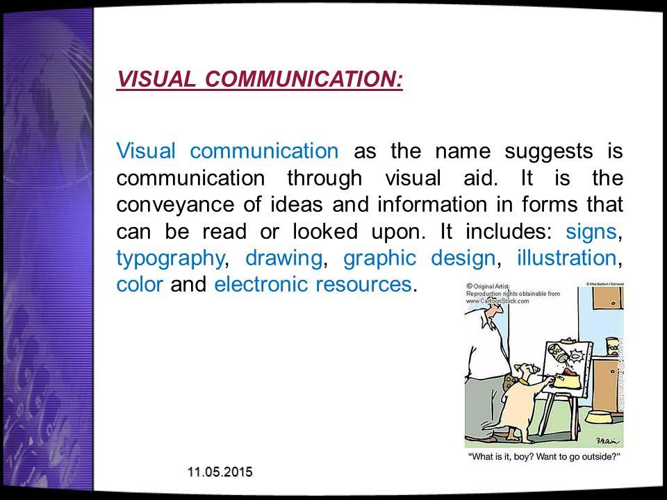 VISUAL COMMUNICATION: