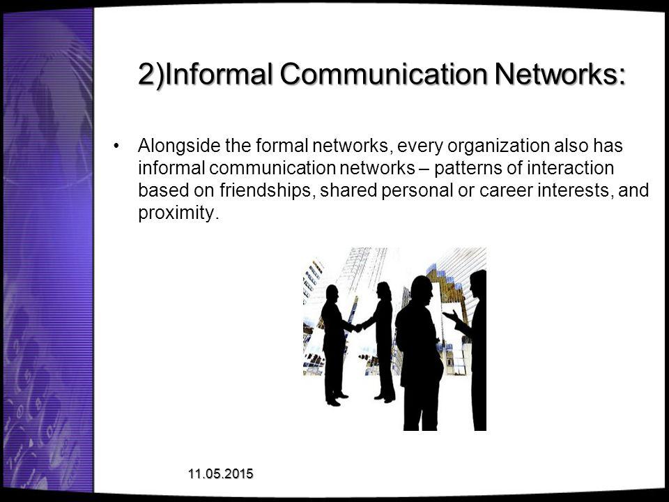 2)Informal Communication Networks: