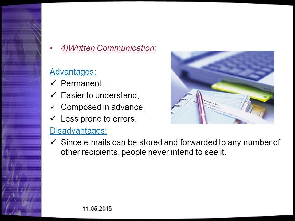 4)Written Communication: