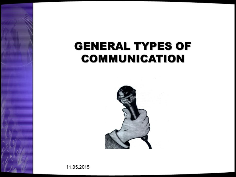 GENERAL TYPES OF COMMUNICATION
