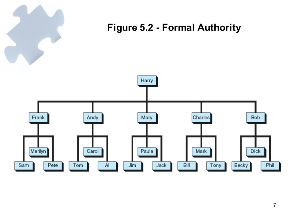 Figure 5.2 - Formal Authority