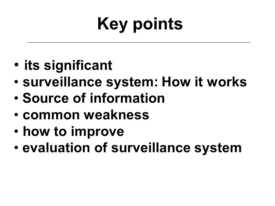 Key points its significant surveillance system: How it works