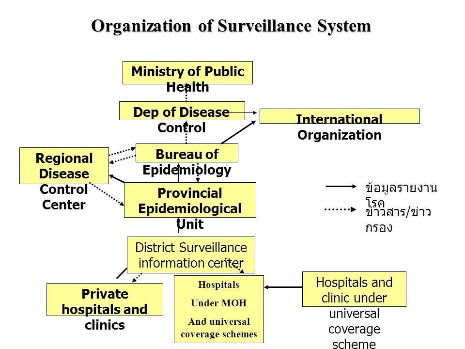 Organization of Surveillance System