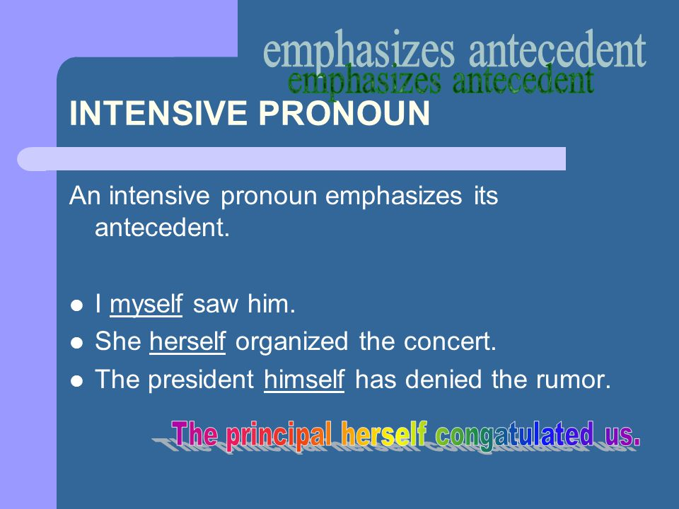emphasizes antecedent