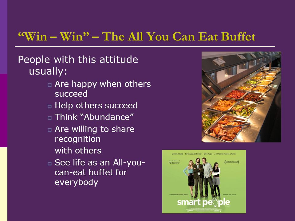 Win – Win – The All You Can Eat Buffet