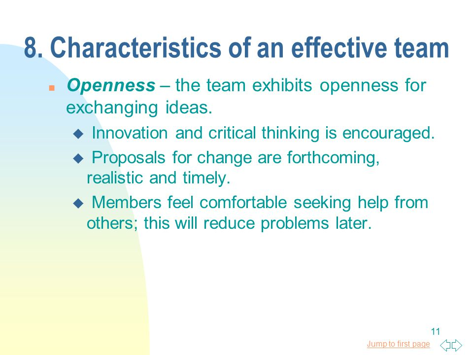 10 Characteristics of an Exceptional Team