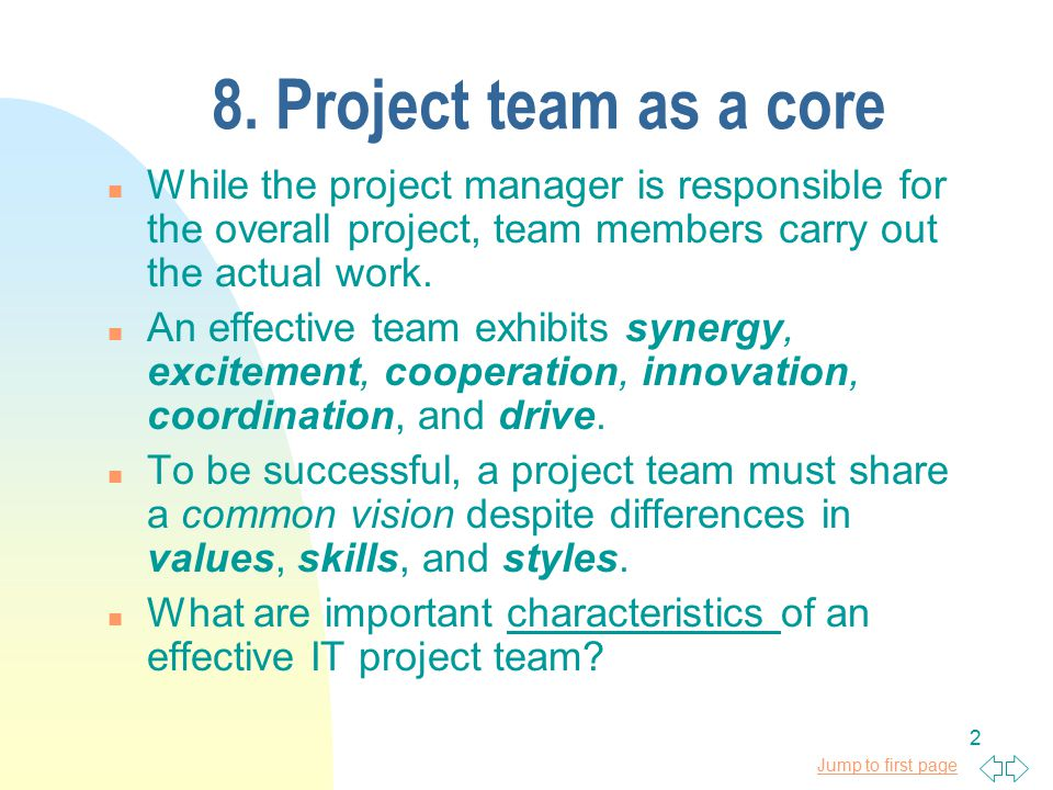 5 Elements of Successful Project Teams