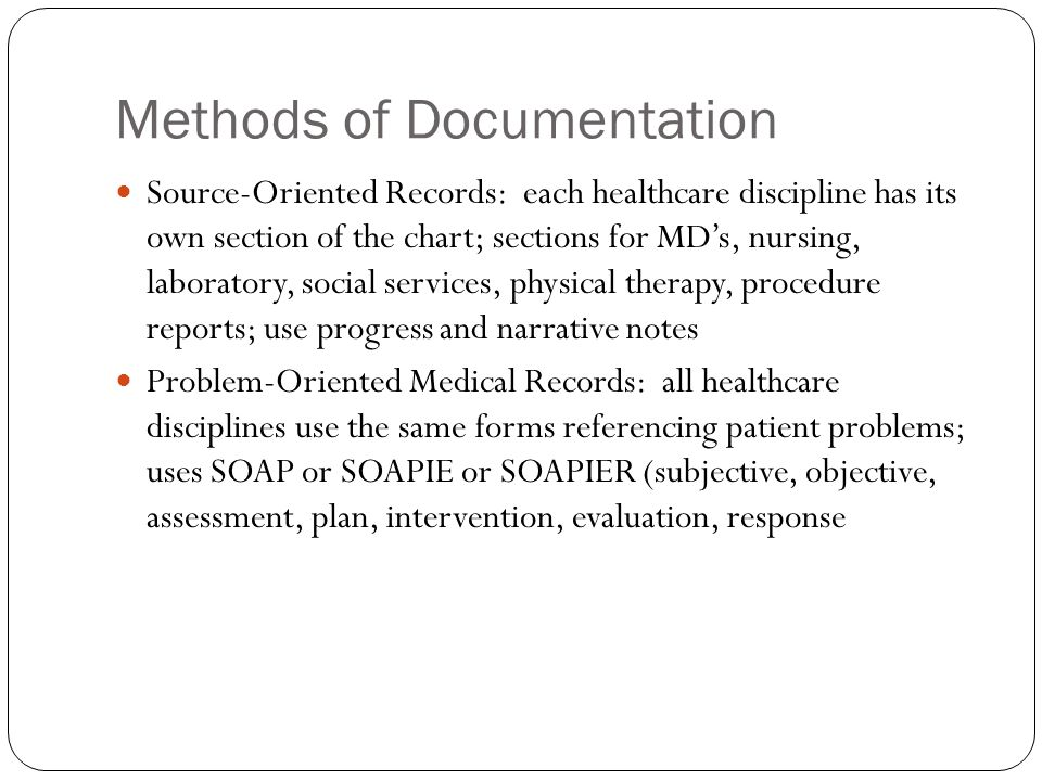 Reporting Documenting Conferring and Using Informatics ppt – Subjective Objective Assessment Planning Note
