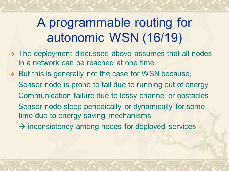 A programmable routing for autonomic WSN (16/19)