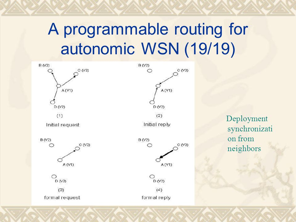 A programmable routing for autonomic WSN (19/19)