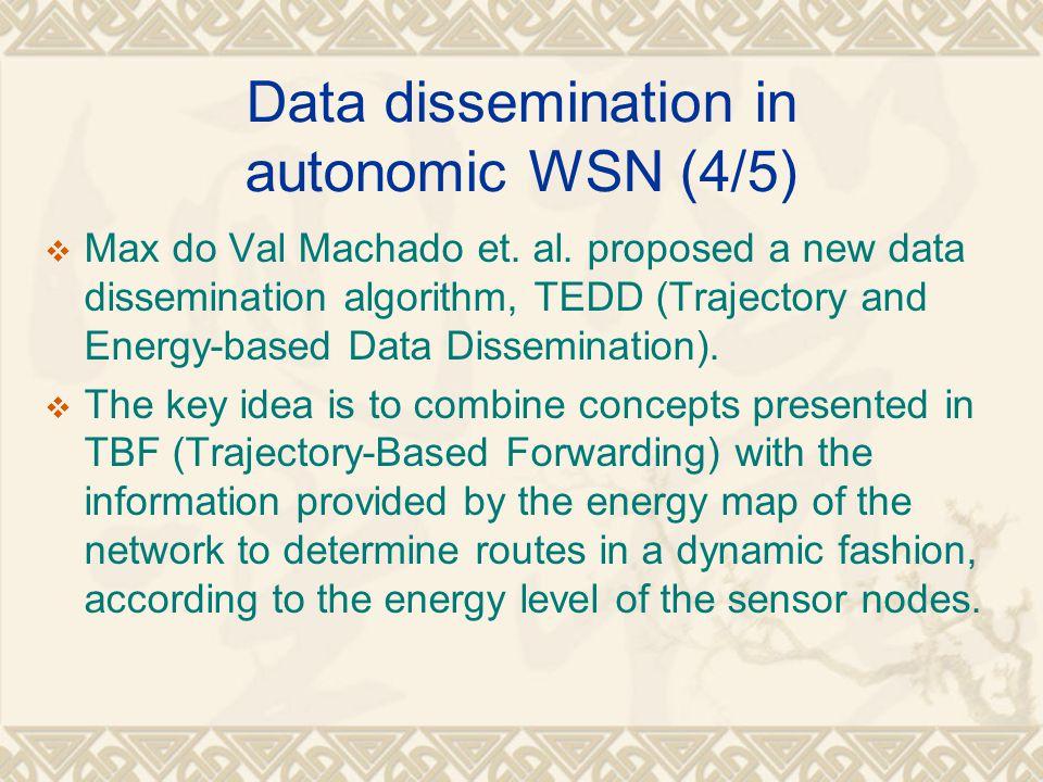 Data dissemination in autonomic WSN (4/5)