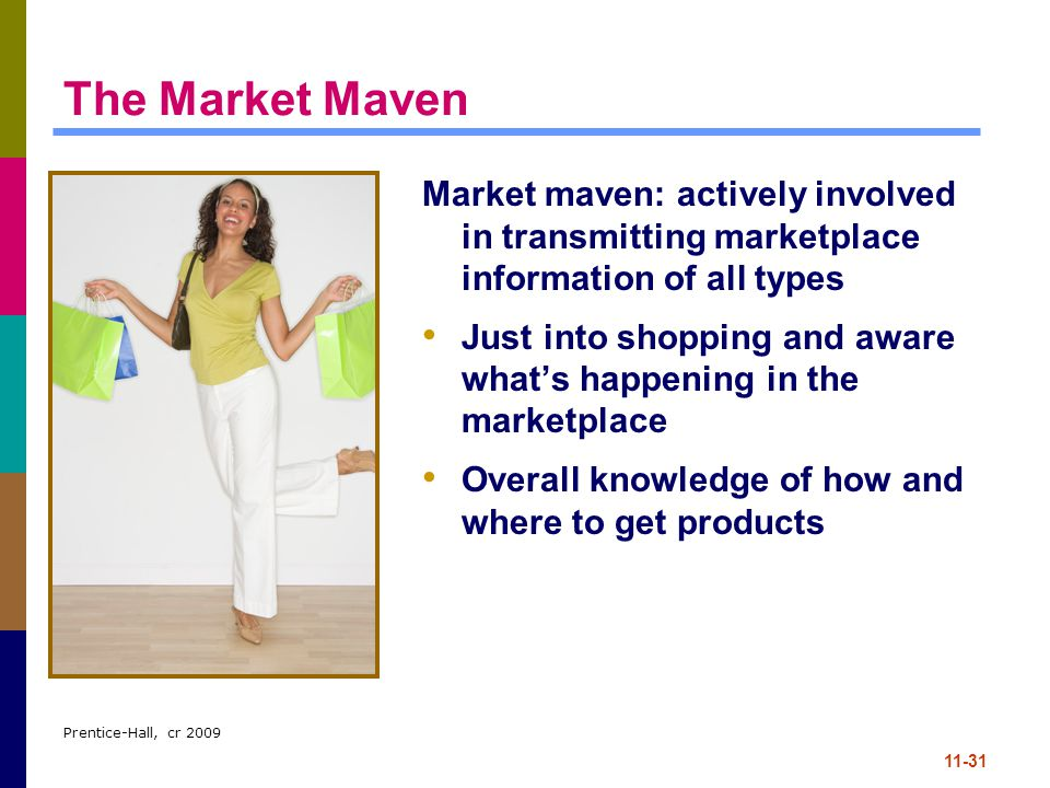 The Market Maven Market maven: actively involved in transmitting marketplace information of all types.