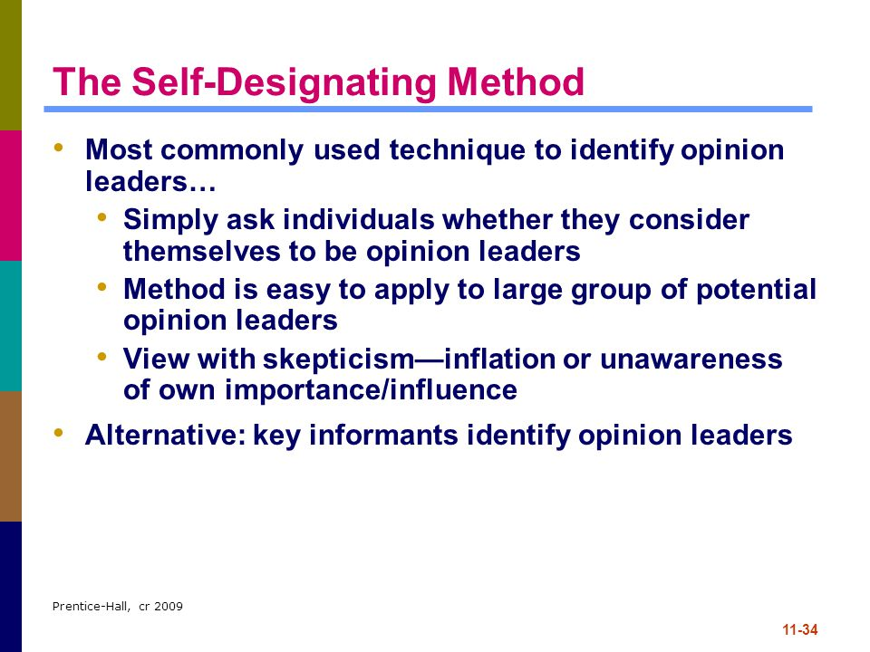 The Self-Designating Method